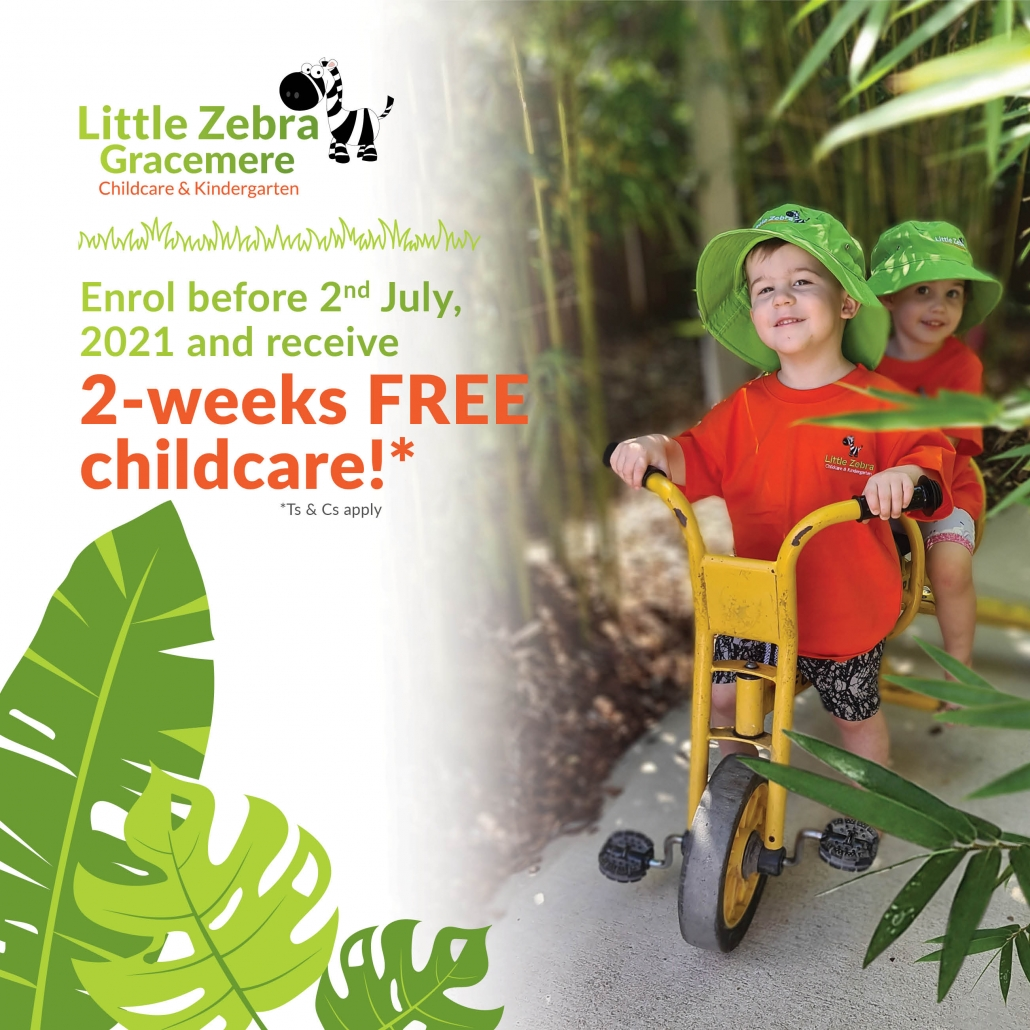 2 Weeks Free Childcare Little Zebra Gracemere